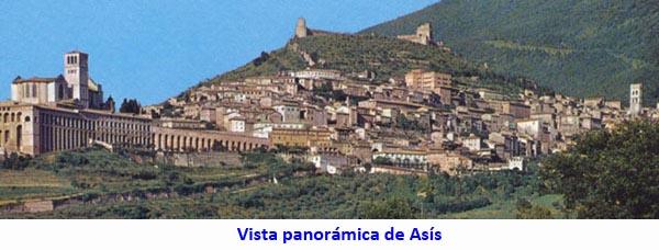 Vista panorámica de Asís