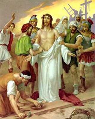 Notitarde Jesús es despojado de sus vestimenta