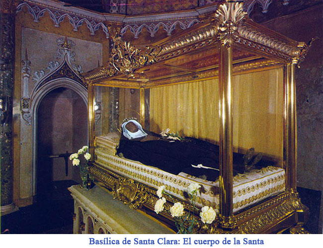 Resultado de imagen para cuerpos incorruptos Santa Clara de Asís
